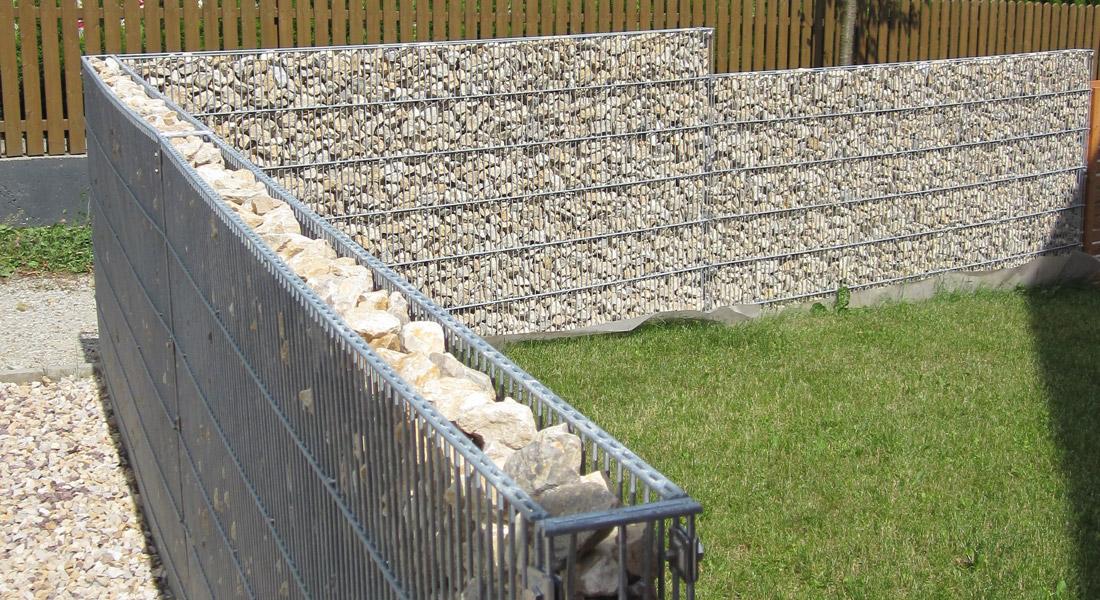 cloture gabion et bois charmant poteau cloture beton avec poteau beton cloture roubaix photo. Black Bedroom Furniture Sets. Home Design Ideas