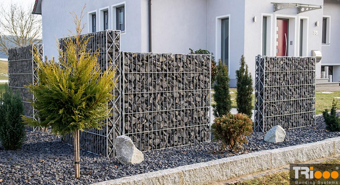 Clôture en gabion cage (15 cm)